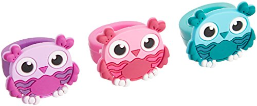 Owl Rubber Rings (Bulk Pack of 12 Rings) ()