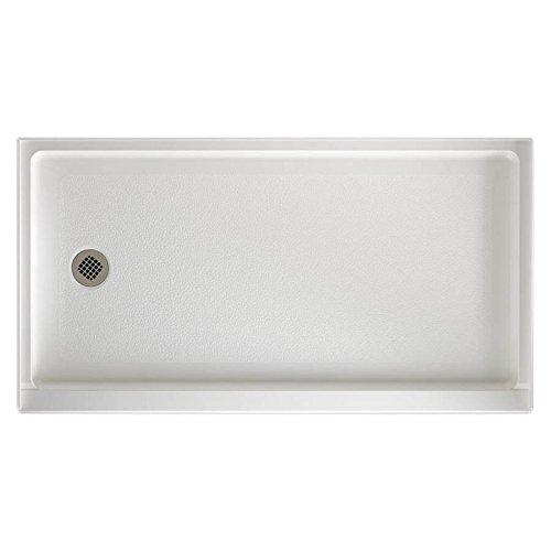 - Swanstone FR-3260L-010 Veritek Left Hand Drain Shower Base, 60-Inch by 32-Inch by 4-5/16-Inch, White