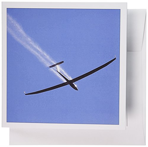 3dRose Glider airplane, Water Ballast, Santiago, Chile - SA05 DWA0067 - David Wall - Greeting Cards, 6 x 6 inches, set of 12 (gc_85855_2)