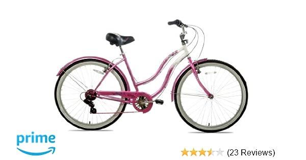 Amazon Com Susan G Komen 7 Speed Beach Cruiser Bike 26 Inch
