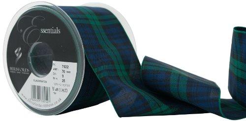 Berisfords Essentials R762270/9 | Black Watch Woven Tartan Ribbon | 25m x ()