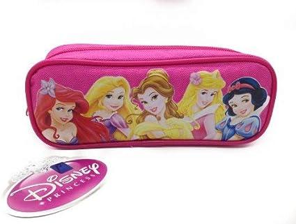 Con licencia oficial de Disney único cremallera bolsa rosa estuche para lápices, diseño de princesa Disney: Amazon.es: Oficina y papelería