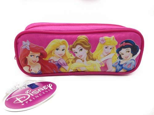 - Officially Licensed Single Zipper Pouch Pink Pencil Case - Princess
