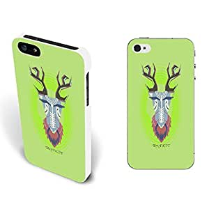New Stylish Cute Animal Design Fashion Iphone Cases Cover Shell for Iphone 5/5s Personalized Hard Plastic Cell Phone Skin (tribal goat BY523)
