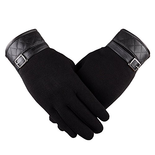 Loneflash Gloves, Women Fashion Winter Outdoor Sport Riding Drove Warm Gloves(1Pair) (Black)