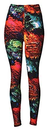 VIV Collection PLUS Size Printed Brushed Leggings (Nature)