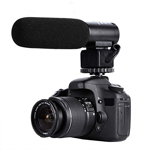 Professional Shotgun Camera Video Mic ZhuoSheng, Cardioid Lightweight Interview Microphone for Nikon Canon DSLR Camera DV Recorder Camcorder(with Suit3.5mm Connector)