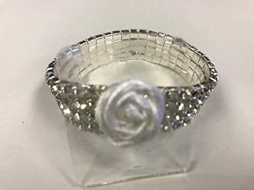 - Fitz Design Corsage Bracelet - Rock Candy Dazzle Lawn Garden, White