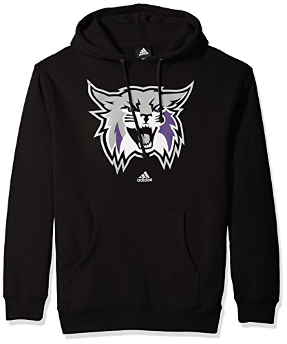 NCAA Weber State Wildcats School Logo Fleece Hoodie, Large, Black