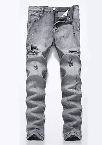 Versaces Vita Jeans Pantaloni Color Vestibilità Dritto Metà Alta Della 4 Slim Maschi Piccolo Stampa Bomba 775rzqw