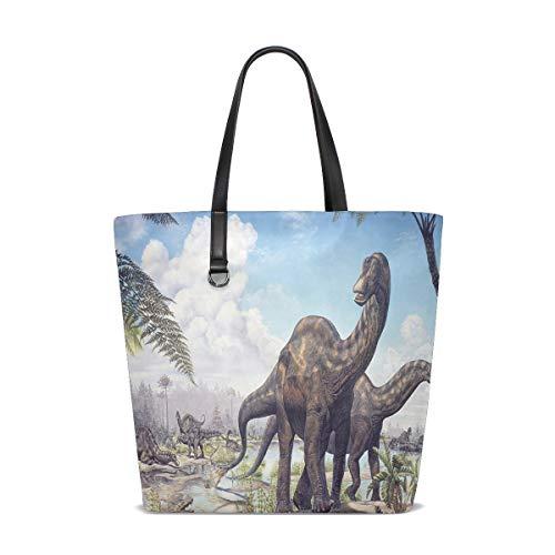 Dinosaur Designer Tote Bag Purse Handbag Womens Gym Yoga Bags for Girls