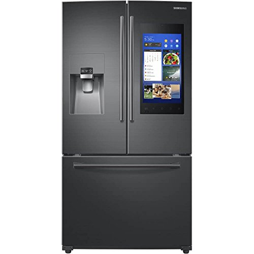 Samsung Black Stainless 24 Cu Ft Family Hub French Door Refrigerator RF265BEAESG