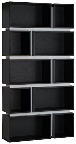 ioHOMES Modern Hamble Bookshelf, Black and White