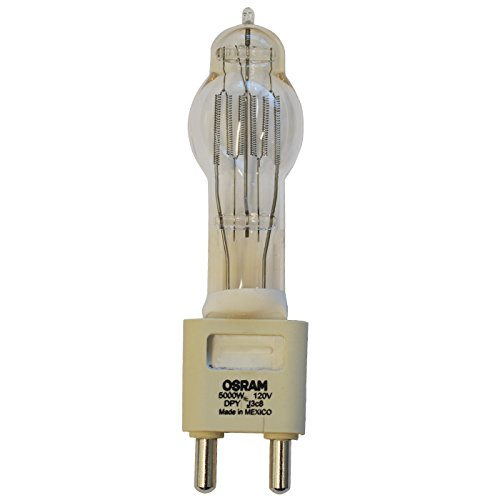 G38 Mogul Base Bipost (SYLVANIA 54647 - DPY - Stage and Studio - T60 - 5000 Watt Light Bulb - 120 Volt - G38 Base - 3200K)