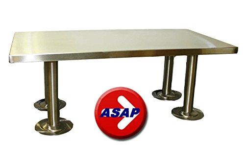 ADA Stainless Steel Locker Room Bench and Pedestals - 42