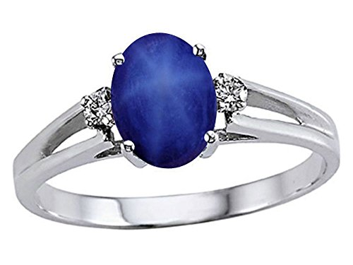 Tommaso Design Studio Created Star Sapphire Ring 10 kt Wh...