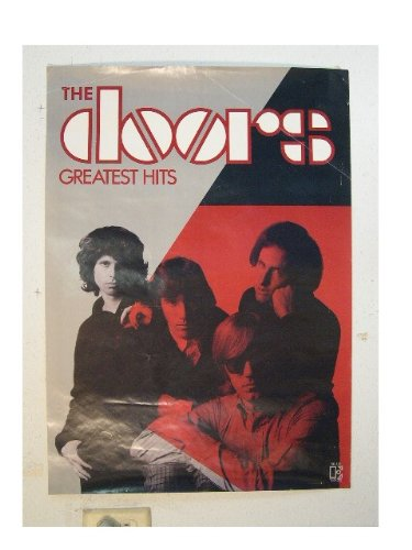 The Doors Poster Jim Morrison Black Red Greatest Hits