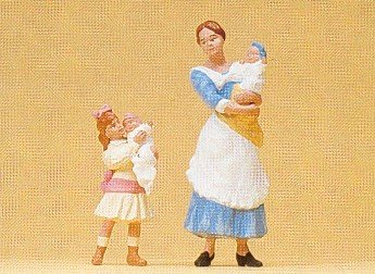 Preiser 45060 Nanny w/Children Nanny and young girl, each...
