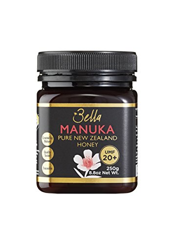 Bella New Zealand Manuka Honey Certified UMF 20+ (MGO 830+)   8.8oz   250g   Raw Ultra Premium 100% NZ Manuka Honey   Non-GMO, Halal, Supports Immunity Naturally
