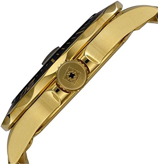 Mens 8936 Pro Diver Collection 23k Gold Plated Watch