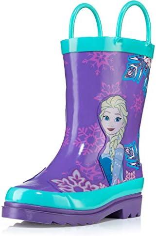 Girls Anna and Elsa Pink Rain Boots