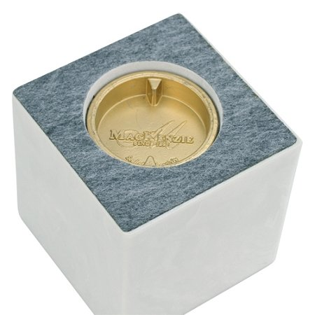 White Cultured Marble Extra Small Urn for Human Ashes, Infant / Child Cremation Urn , 4 x 4 x 4 Inches, Suitable for Burial or Home Memorial