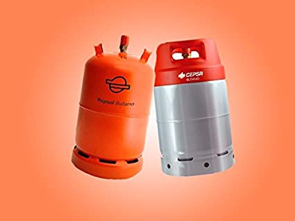 Grifo regulador de gas con presión de salida 28 (gr/cm^2) para bombona naranja tipo repsol