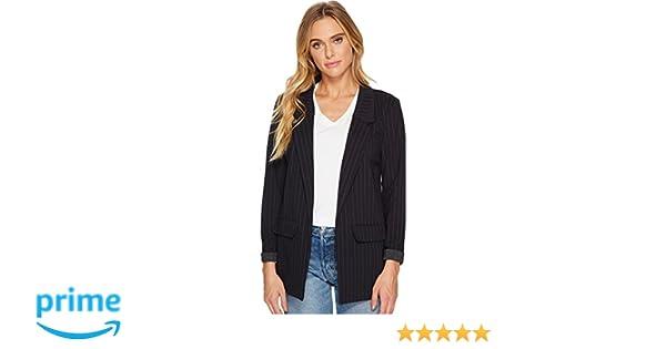 f643cda06e43 Liverpool Women s Boyfriend Blazer in Wide Stripe Ponte Knit Navy Large at  Amazon Women s Clothing store