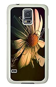 Samsung S5 case wholesale cover Directional Flower PC White Custom Samsung Galaxy S5 Case Cover
