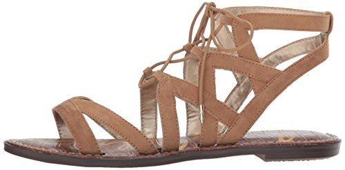 Sam Edelman Women's Gemma Flat Sandal, Golden Caramel Suede, 9 Wide US by Sam Edelman (Image #5)
