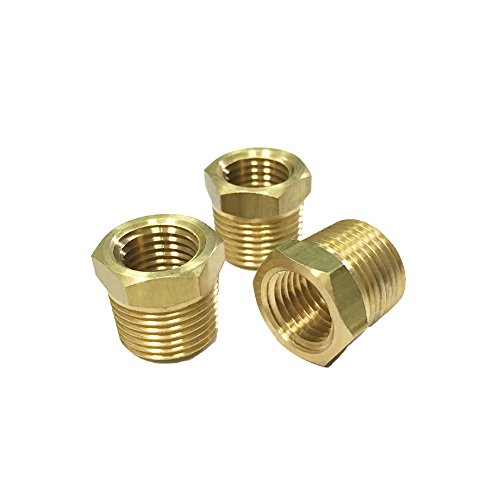 Nigo Brass Pipe Fitting, Hex Bushing (3 Pack, 3/8