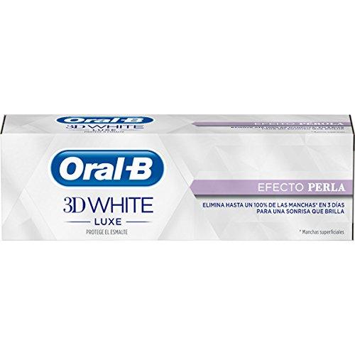 Oral-B 3D Pasta Dentífrica White Luxecon Efecto Perla - 4 Paquete de 75 ml - Total: 300 ml Procter & Gamble 8001090293176