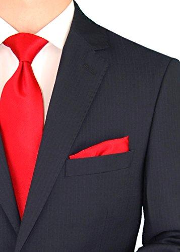 Gino Valentino Men's Two Button Modern Striped Night Navy Suit (38 Regular US / 48 Regular EU) by Gino Valentino (Image #2)