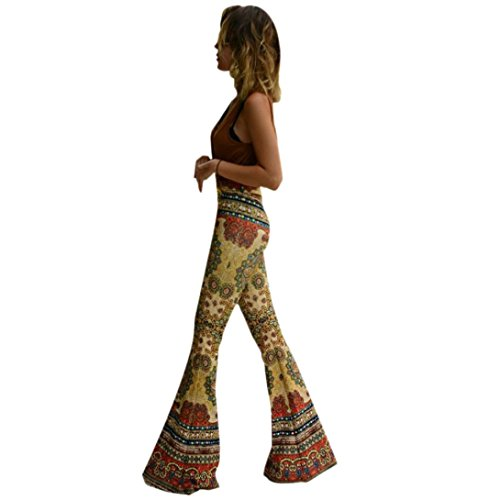 AutumnFall Women's Stretch Soft Bell Bottoms (L, # 1)