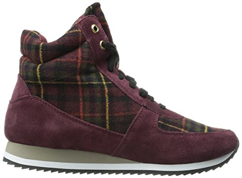 Bella Vita Donna Enice Fashion Sneaker Scamosciato Bordeaux / Flanella Plaid