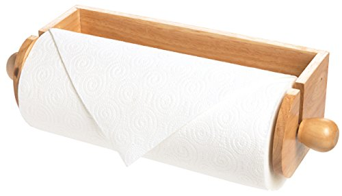 Fox Run 4090 Wall Paper Towel Holder, Wood (Wooden Paper Towel Holder Under Cabinet)