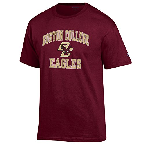 Boston College Eagles Tee - Champion NCAA Men's Shirt Short Sleeve Officially Licensed Team Color Tee, Boston College Eagles, X-Large