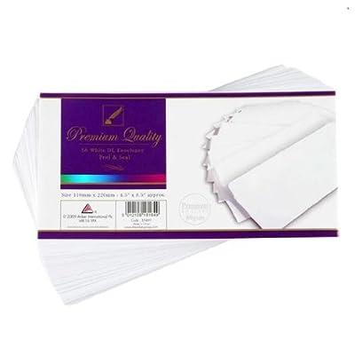 Anker International, papeterie, 50DL Blanc enveloppe P & S