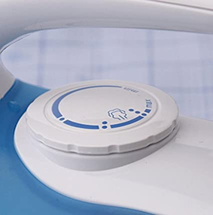 White and Blue Russell Hobbs Steam Glide Travel Iron 22470 760 W