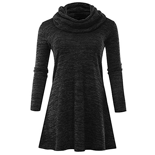 BODOAO Women Long Sleeve Tunic Tops Blouse Casual Sweater Cowl Neck Dress Pullovers