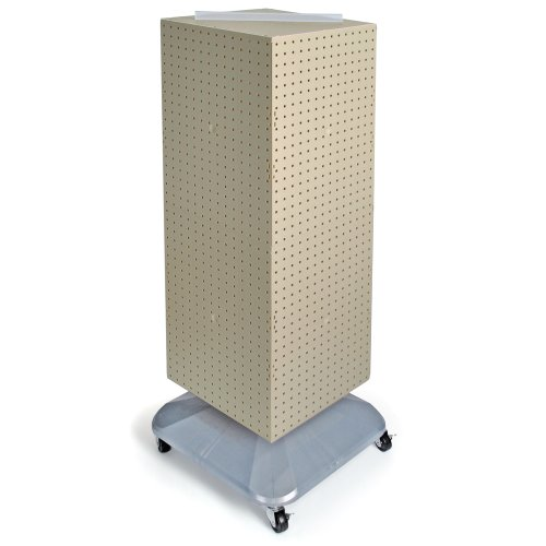 (Azar Displays 701436-ALM Standard Four-Sided Interlocking Pegboard Floor Display, Almond)