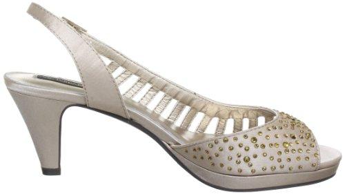 Victoria Delef SANDALS 13V0505 - Zapatos con correa de tobillo de satén para mujer Dorado (Gold (NUDE))
