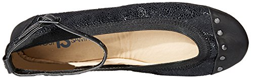 Black Ankle Flat Samra Yosi Women's black Strap with Abbey Ballet ABAaqwU