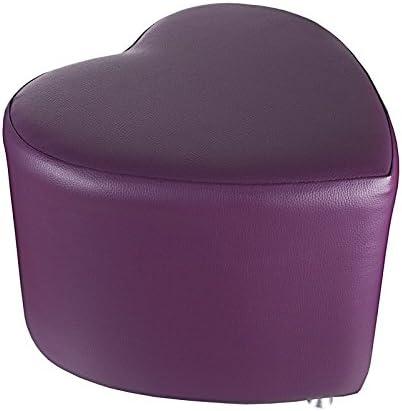 Sitzhocker Kaikoon Sitzwürfel Herzform Pink mit Aluminium Gleiter