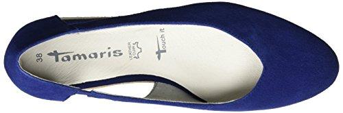 Tamaris Dames 24202 Slipper, Zwart, 37 Eu Blauw (blue 815)