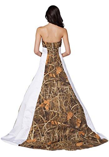 sunvary Blanco y camuflaje quinceañera para recepción de boda para vestidos de novia blanco