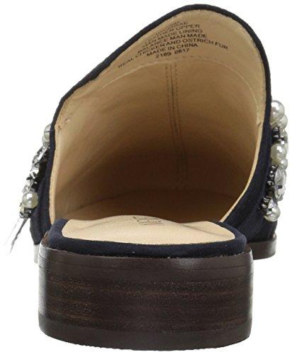 Negen West-dames Jatoba Leer Mode Boot Marine