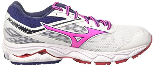 Blueprint Wos Mujer White Zapatillas Wave Ultima Pinkglo Running Multicolor para de Mizuno wUPEBnq