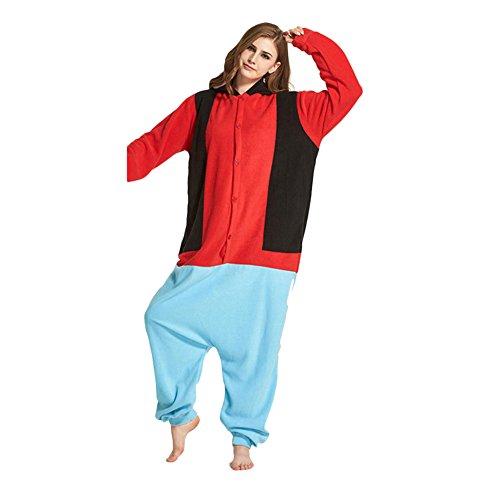 Mouse Lemur Costume (Bolaner Women Girl Winter Sleepwear Cosplay Costume Fleece Animal Onesie Pajamas)