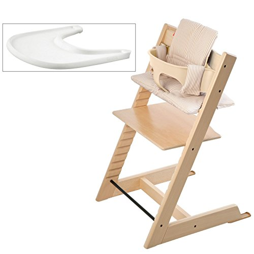 Stokke tripp trapp high chair bundle natural with beige for Stokke tripp trapp amazon